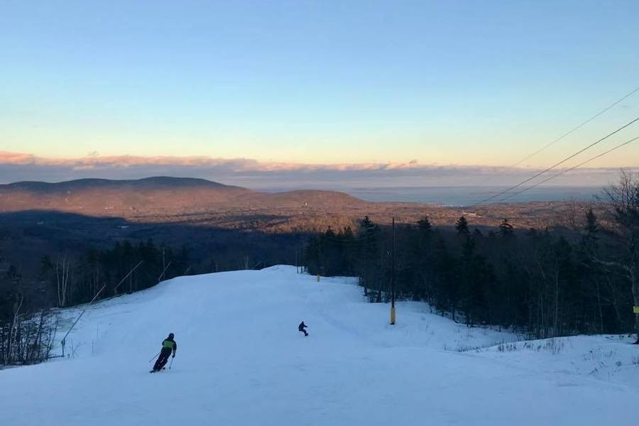 Skiing to the sea at Maine's Camden Snow Bowl. (Camden Snow Bowl/Facebook)