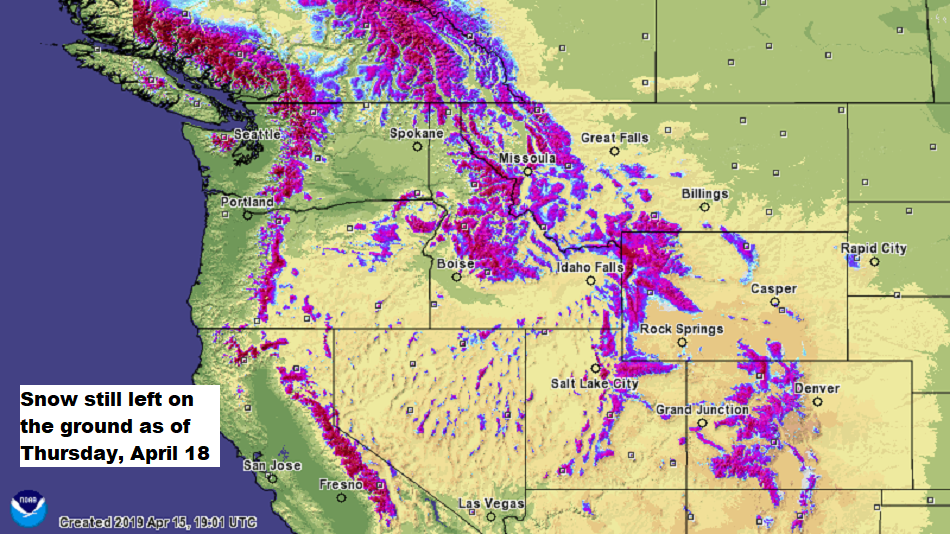 Western snow depth. (NOHRSC)